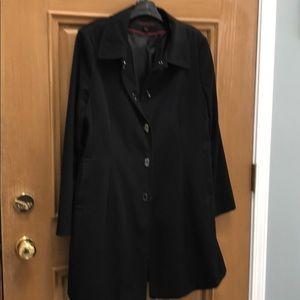 Black classic spring coat